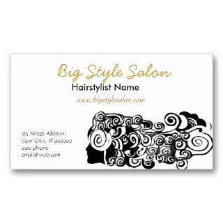 Pretty Woman with Long Hair Business Card Templates