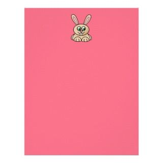 Green Eyes Rabbit Cartoon Art Letterhead