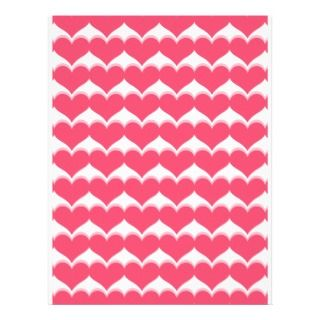 Cute candy girly pink love hearts pattern customized letterhead