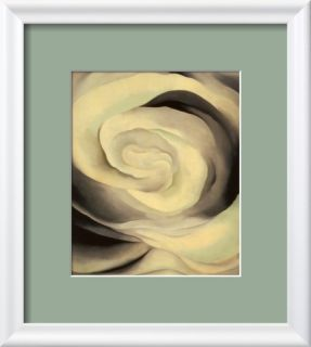 Abstraction White Rose, 1927 Pre made Frame