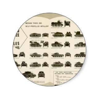 Identification Chart WWII Medium Tanks Sticker