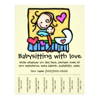 LittleGirlie Child care custom tear sheet flyer