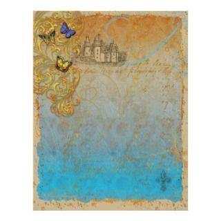 Fairy Tale Castle Stationery Letterhead