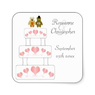 Wedding Cake Bride And Groom Stickers