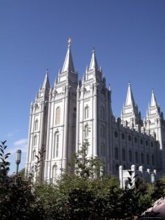 Temple Square Featuring the Salt Lake Temple, Church of Jesus Christ of Latter Day Saints Photographic Print by Lynn Seldon