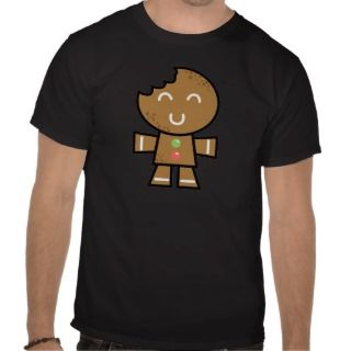 Yay For Color Xmas Character   Gingerbread Man T Shirts