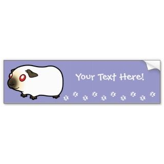 Cartoon Guinea Pig (himalayan) bumper stickers by SugarVsSpice