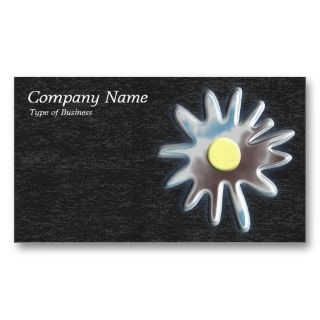 Metal Flower   Dk Gray Business Card Templates