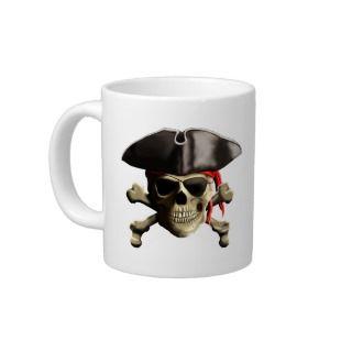 The Jolly Roger Pirate Skull Jumbo Mugs