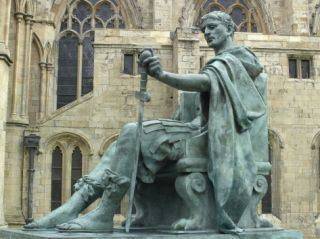 Statue of Constantine the Great in York, England, Where He was Proclaimed Roman Emperor in 306 Photographic Print