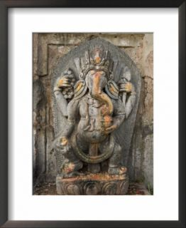 Ganesh Stone Statue, Son of Shiva and Parvati. Pre made Frame