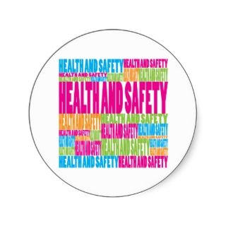 Colorful Health and Safety Round Sticker