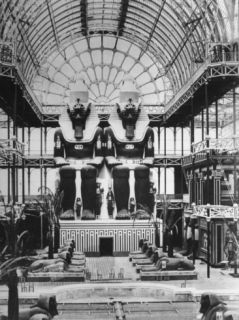 Interior of the Nubian aka Egyptian Court of the Reconstructed Crystal Palace at Sydenham Premium Photographic Print