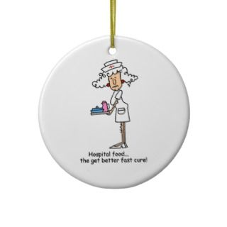 Funny Nurse Hospital Food T shirts and Gifts Christmas Tree Ornament