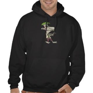 silly goofy zombie cartoon character hoodies