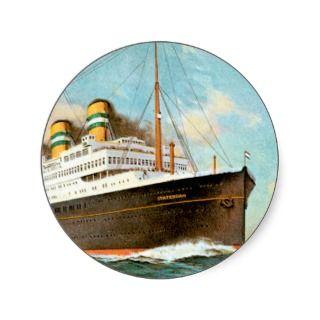 SS TSS Statendam Vintage Passenger Ship Sticker