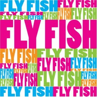 Colorful Fly Fish Cut Out