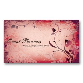business with this elegant vintage red leafy floral swirl business