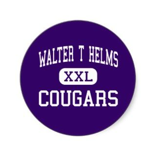 Walter T Helms   Cougars   Junior   San Pablo Stickers