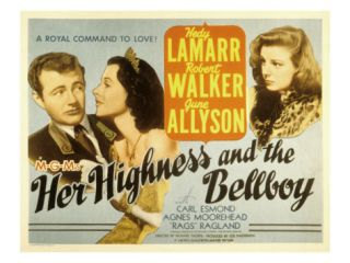 Her Highness and the Bellboy, Robert Walker, Hedy Lamarr, June Allyson, 1945 Premium Poster