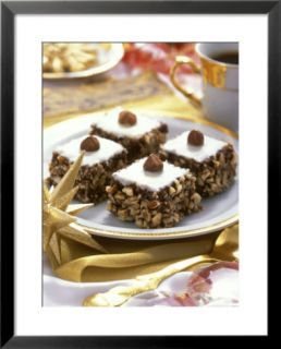 Small Hazelnut Cake on Christmassy Coffee Table Pre made Frame