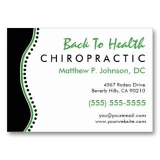 Elegant Dots Oversized Chiropractic Business Cards