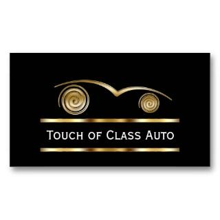 upscale auto repair service business cards you can customize with