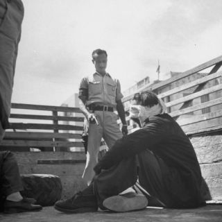 A Haganah Man Holding His Prisoner at Gun Point Premium Photographic Print by John Phillips