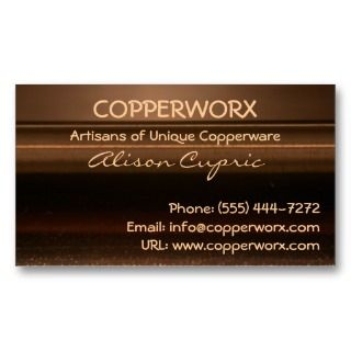 COPPER METALLIC Business Cards