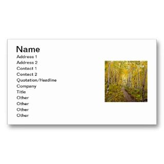 to Breckenridge Trail Oil Painting Business Cards