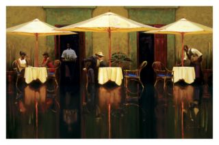 Spanish Cafe Print by Brent Lynch