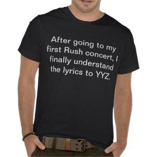 Rush Lyrics YYZ Concert T shirt