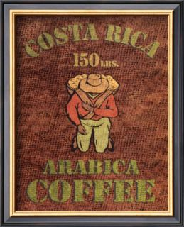 Costa Rica Arabica Lamina Framed Art Print
