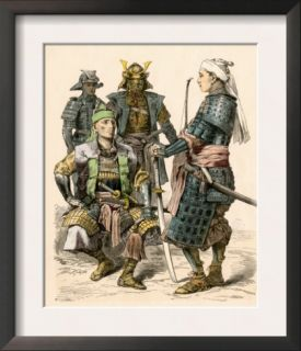 Japanese Samurai Warriors in Full Armor Pre made Frame