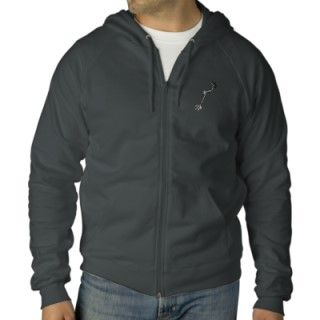 Metal Detector Embroidered Hooded Sweatshirt