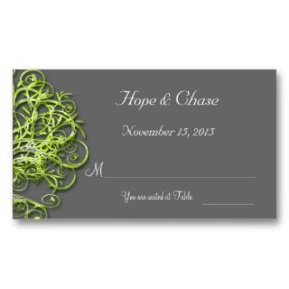 Lime Damask Love Tree Wedding Invitation