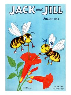 Honey Bees Delight   Jack and Jill, August 1954 Giclee Print by Wilmer Wickham