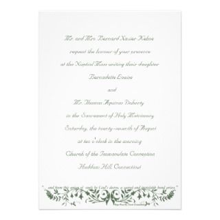 Catholic Wedding Set Invitation Template CC invitations by caritas