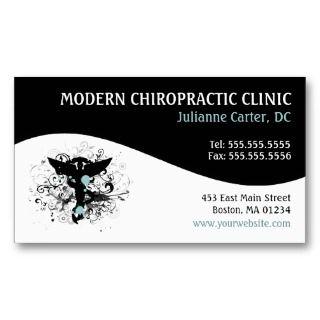 Modern Swirl Feminine Chiropractic Business Cards profilecard
