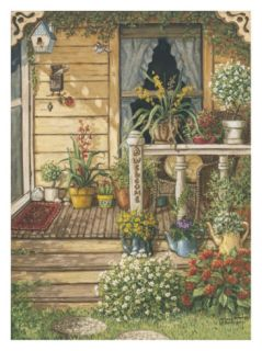 Summer Front Porch Print by Janet Kruskamp