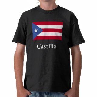 Castillo Puerto Rican Flag Blk Shirt