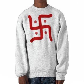 Hindu Swastika Pull Over Sweatshirts