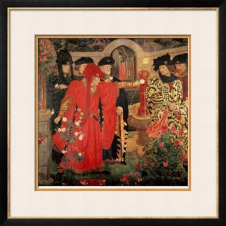 Choosing the Red and White Roses in the Temple Garden, 1910 Framed Giclee Print by Henry Payne
