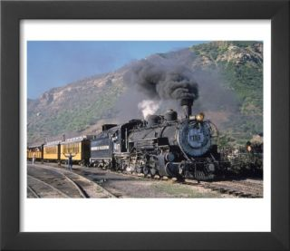 Steam Locomotive, Durango, Colorado Pre made Frame by Charles Benes