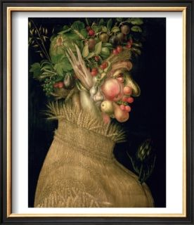 Summer, 1563 Pre made Frame by Giuseppe Arcimboldo