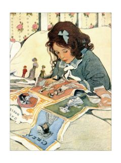 Picture Papers Print by Jessie Wilcox Smith