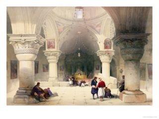 Crypt of the Holy Sepulchre, Jerusalem, Plate 20 from Volume I of The Holy Land Giclee Print by David Roberts