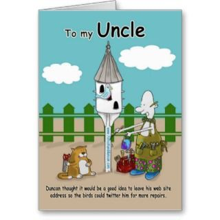 Funny Uncle Birthday Greeting Cards, Note Cards and Funny Uncle