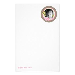 Family Baby Girl Cute Photo Template Stationery Design