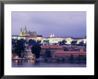Prague Castle and St. Vitus Cathedral, Prague, Czech Republic Pre made Frame